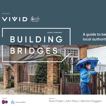 Cover image of the Building Bridges Report summary.